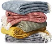 Plaid - Wol-Klippan-Deken - Alaska Black - woon accessoire - Wollen deken