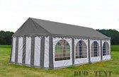 Party tent 8x4 Premium PVC Brandvertragend | Grijs dak | Grijswitte zijkanten