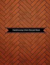 Hairdressing Client Record Book