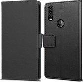 Book Wallet hoesje voor Motorola One Vision - zwart