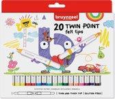 Bruynzeel Kids 20 viltstiften - dubbele punt