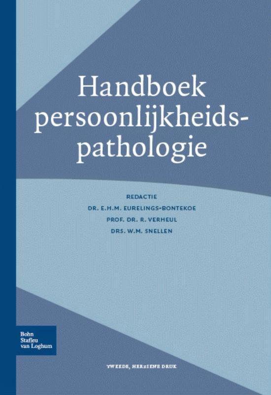 Handboek persoonlijkheidspathologie - Eurelings-Bontekoe, E.H.M  