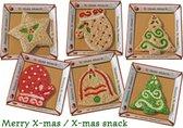 Kerst Munchy Snacks Hond Kerstcadeau - Hondenspelgoed - 6 St.