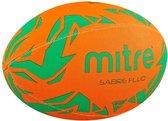 Rugbybal Mitre Sabre Fluo - Oranje/Groen - Maat 4