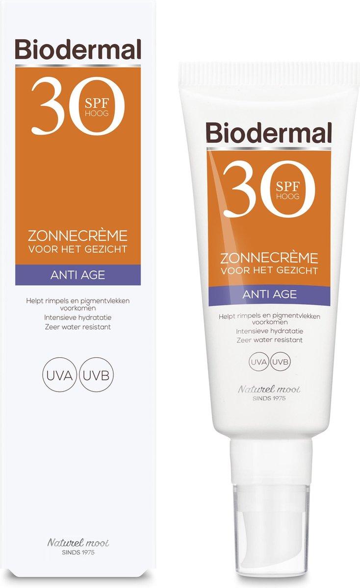 Biodermal Zonnebrand - Anti Age Zonnecr me voor het gezicht - SPF 30 - 40ml