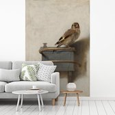 Het puttertje - Schilderij van Carel Fabritius fotobehang vinyl 155x240 cm - Foto print op behang