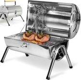 Tafelbarbecue grill inox - met dubbel grill vlak - 38x52cm