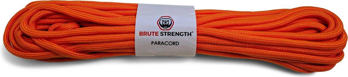 Paracord - Touw - 6 mm - 20 meter - Oranje - 400 kg trekkracht