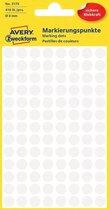 Huismerk Avery 3175 Ronde Etiket 8mm Wit