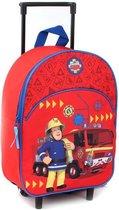 Fireman Sam Ready Steady Rescue Rugzaktrolley - 8,2 l - Rood