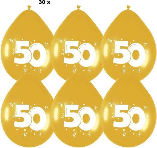 30 x - ballonnen 50 - goud - 30 cm