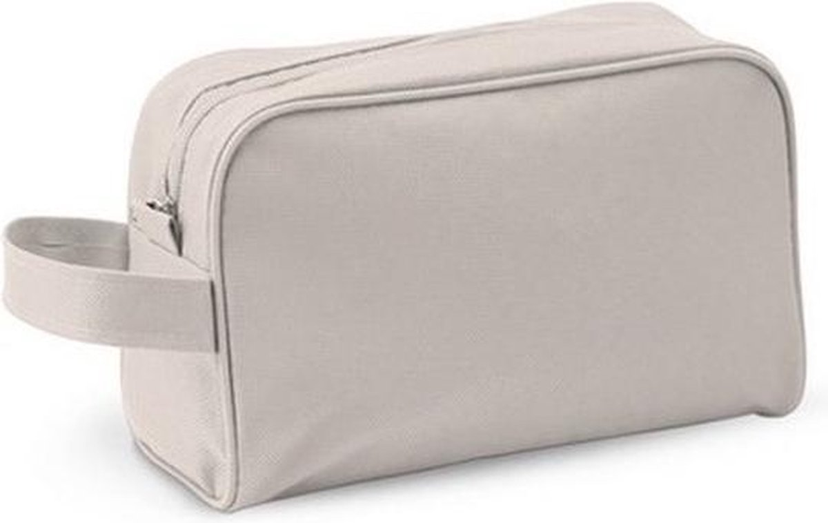 Toilettas naturel met handvat 21,5 cm voor kinderen - Reis toilettassen/etui - Handbagage