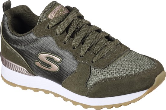 Skechers Retros Og 85 Goldn Gurl Dames Sneakers - Olive - Maat 39