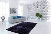 Kayoom Hoogpolig vloerkleed - super zacht 80 x 150 Blauw