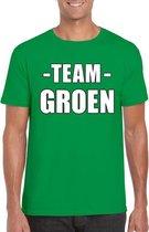 Sportdag team groen shirt heren maat S