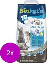 Biokat's Diamond Care Multicat - Kattenbakvulling - 2 x 8 l