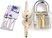 BonQ Lockpick Set - Transparant Oefen Slot - Incl Creditcard Met Tools