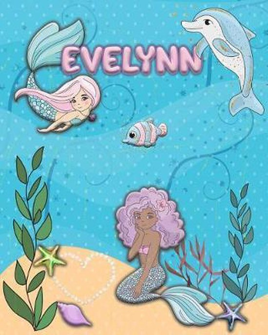 Handwriting Practice 120 Page Mermaid Pals Book Evelynn