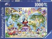 Ravensburger puzzel Disney's Wereldkaart - Legpuzzel - 1000 stukjes