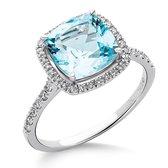 Orphelia RD-3924/54 - Ring - Goud 18 kt - Diamant 0.2 ct / Sky Topaz 2.5 ct - 17.25 mm /  maat 54