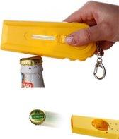 Bier Opener - Bierdop Schieter - Fles Opener - Bier Flessen Opener - Kleur : Geel