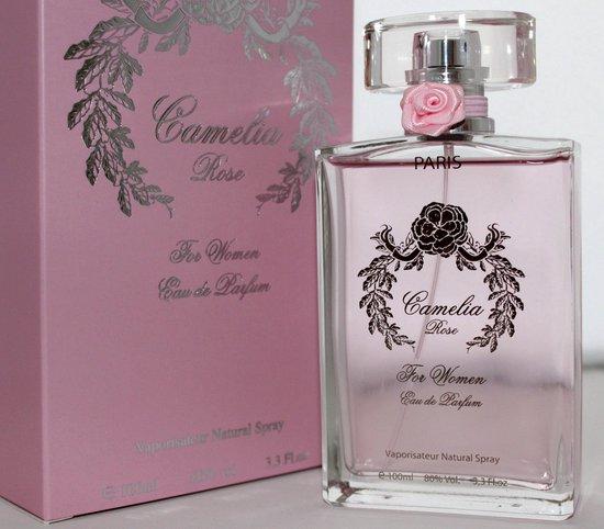 ZOMER GEUR Camelia Rose bloemige dames parfum 100 ml met Jasmijn, Iris, en Patchoulli + gratis Whisky Sport parfum 100 ml