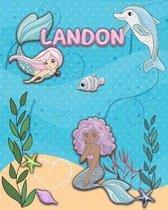 Handwriting Practice 120 Page Mermaid Pals Book Landon