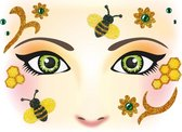 Herma Face Art Glitter Sticker Honingbij