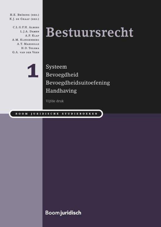Boek cover Boom Juridische studieboeken  -  Bestuursrecht deel I systeem, bevoegdheid, bevoegdheidsuitvoering en handhaving van L.J.A. Damen (Hardcover)