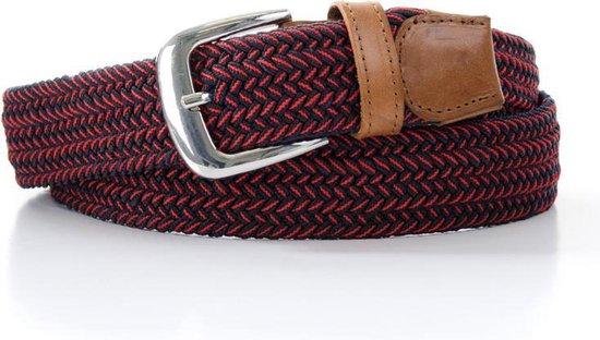 Elastische Riem – Gevlochten Riem – Rood – Bordeaux – Patroon – 90cm