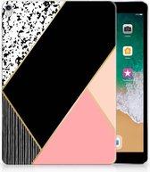TPU Siliconen iPad Pro 10.5 Uniek Tablethoesje Black Pink Shapes