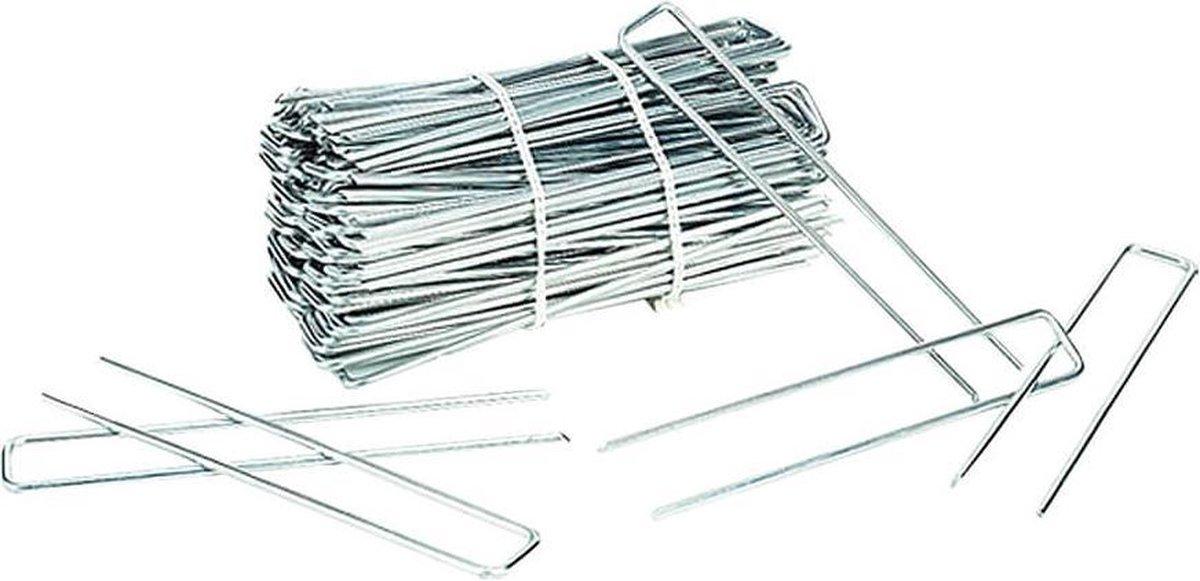 Gronddoekpen / Anti-Worteldoek Haken 20 x 5 x 20 cm ZINK / 100 STUKS ! / gronddoekpennen