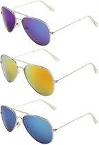 Kinder Pilotenbrillen - 3 stuks