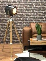 Dimehouse Staande lamp - Industrieel Sami - Metaal Hout - E27 -  1-lichts