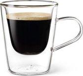 Dubbelwandig glas Espresso - 10 cl - Set van 2