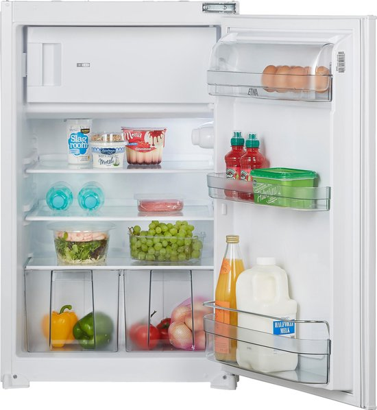 Koelkast: ETNA EEK136VA - Geïntegreerde sleepdeur koelkast met vriesvak, van het merk ETNA