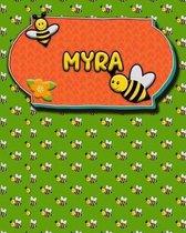 Handwriting Practice 120 Page Honey Bee Book Myra