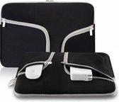 Laptop Sleeve met rits voor o.a. voor MacBook Pro 13 / MacBook Retina 13 inch - Laptoptas - Zwart