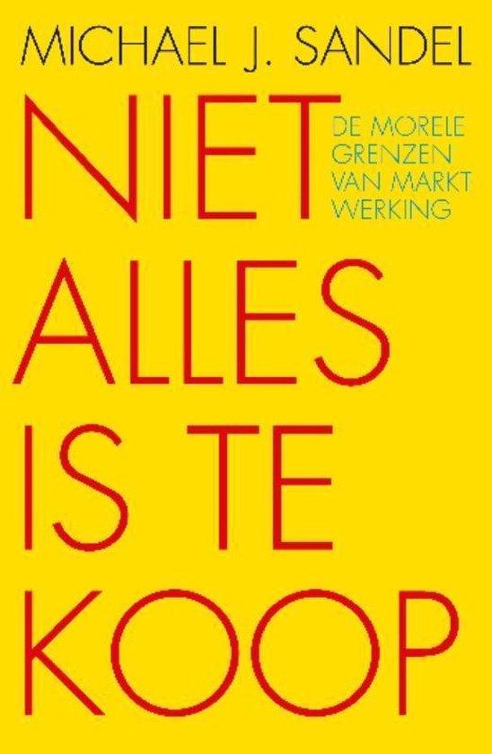 Niet alles is te koop - Michael Sandel | Fthsonline.com