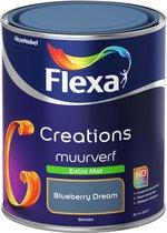 Flexa Creations - Muurverf Extra Mat - Blueberry Dream - 1 liter