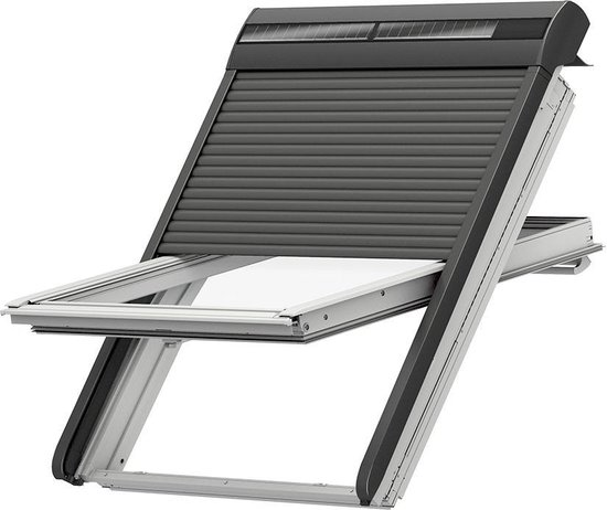 VELUX Rolluik - Ombergrijs - Elektrisch (op zonne-energie) - FK06 SSL 0000S