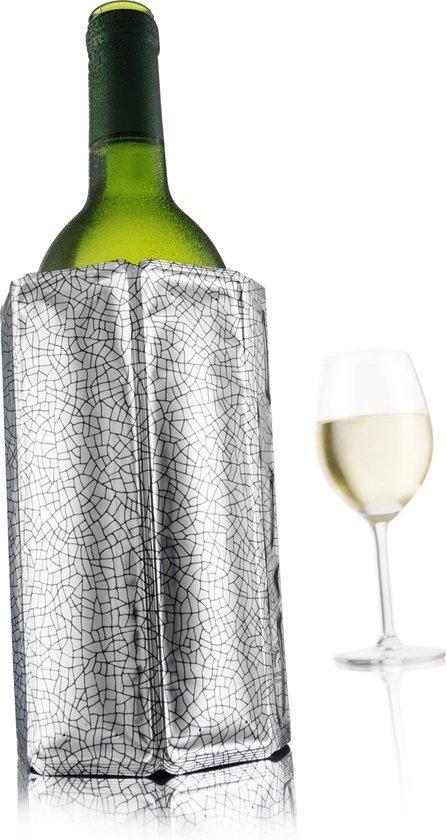 VacuVin Rapid Ice Wijnkoeler - Zilver