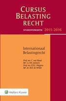 Studenteneditie cursus belastingrecht internationaal belastingrecht 2015-2016