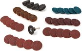 35 Delige Roloc Schuur, Polijst en Clean set met 6 mm opnamedoorn