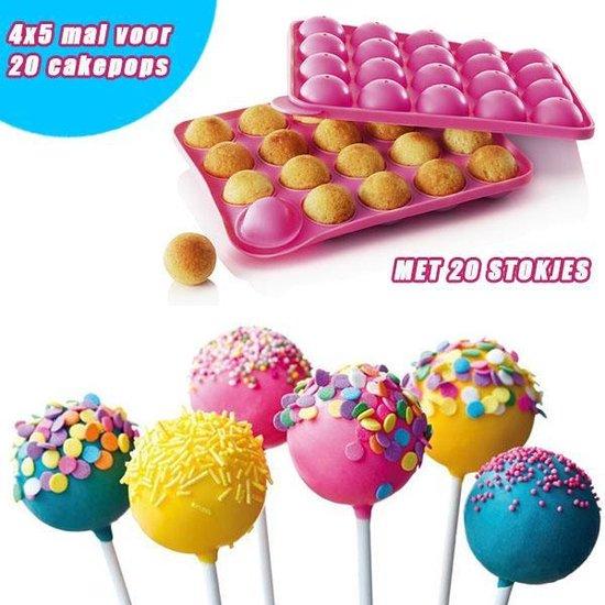 Silicone Cakepop bakvorm voor 20 heerlijke Cakepops inclusief 20 Cake Pop sticks | Pride Kings®