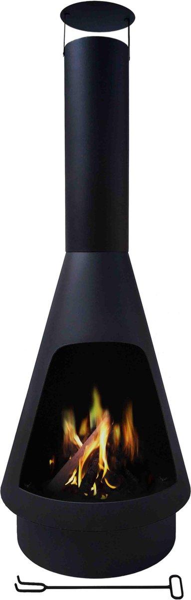 MaxxGarden Tuinhaard - Terrashaard Helios - zwart - Ø50 x 130cm