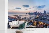 Uitzicht over de haven van Qingdao in China fotobehang vinyl breedte 540 cm x hoogte 360 cm - Foto print op behang (in 7 formaten beschikbaar)