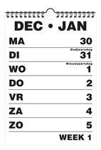 Grootletter Weekkalender A4 Voor Slechtienden En Senioren - 2022 - Zwart   Wit