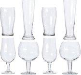 Verschillende bierglazen set 8 stuks - Glazen voor bier - Speciaal bier - Proefglazen set