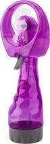 Draagbare handventilator met mist spray | inclusief waterreservoir | verkoeling met water | waterspray | tafelventilator | paars